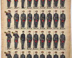 Planche imagerie Epinal - Pellerin Editeur - N°141 - Armée Française Coloniale - Tirailleurs Tonkinois - Annamites