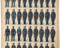 Planche imagerie Epinal - Pellerin Editeur - N°141 - Armée Française Coloniale - Tirailleurs Sakalaves