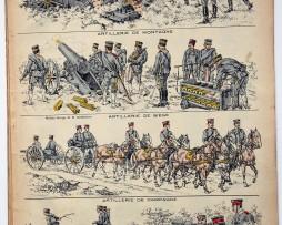 Planche imagerie Epinal - Pellerin Editeur - N°828 - Armée Japonaise
