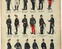 Planche imagerie Epinal - Pellerin Editeur - N°760 - Armée Argentine - Etat-Major