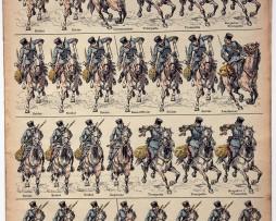 Planche imagerie Epinal - Pellerin Editeur - N°681 - Cosaques du Don - Russe