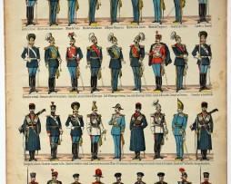 Planche imagerie Epinal - Pellerin Editeur - N°660 - Etat-Major Général de l'armée Russe