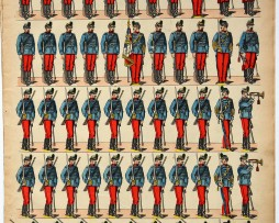 Planche imagerie Epinal - Pellerin Editeur - N°192 - Chasseurs 3e République