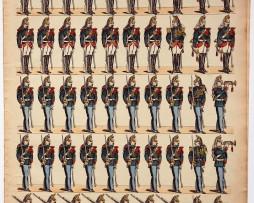 Planche imagerie Epinal - Pellerin Editeur - N°188 - Garde Républicaine 3e République
