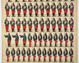 Planche imagerie Epinal - Pellerin Editeur - N°234 - Cuirassiers 3e République