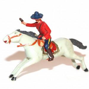 Ancienne figurine plastique année 60 Garde Montée Canadienne