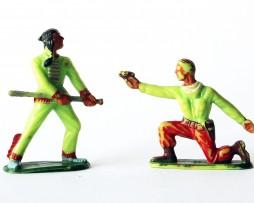 Figurines Michel Indiens des plaines et cowboy