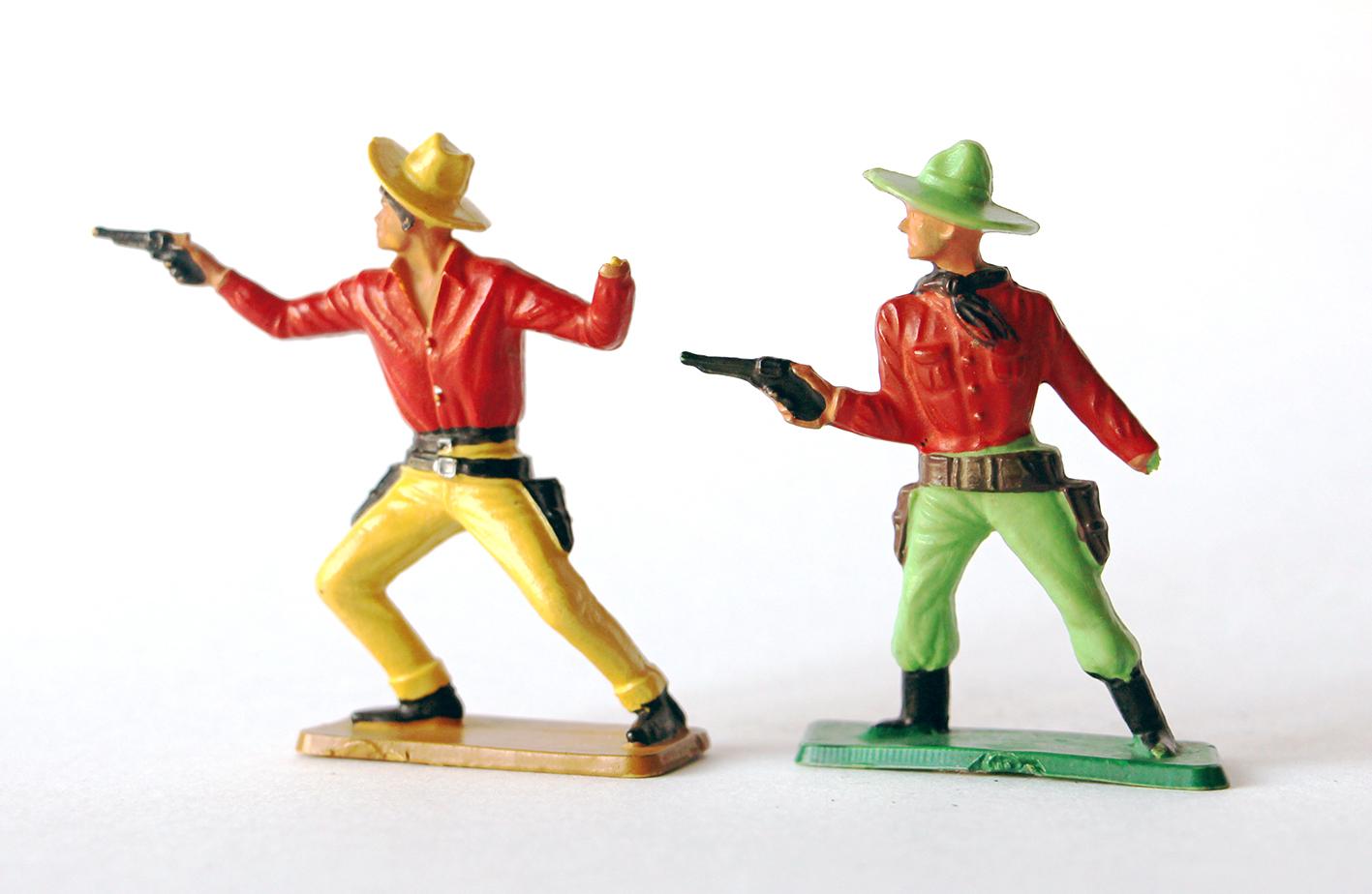 2 Figurines Starlux Cowboy
