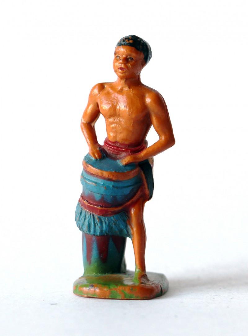 Ancienne figurine Starlux afrique tamtam