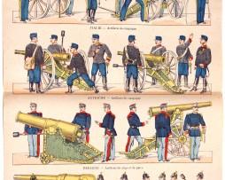 Planche Imagerie Vagné - Pont à Mousson - Artillerie Etrangère - N°478