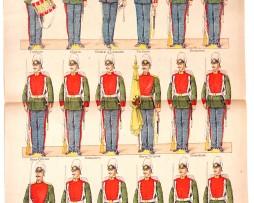 Planche Imagerie Vagné - Pont à Mousson - Armée Russe - Grenadiers de la Garde - N°957