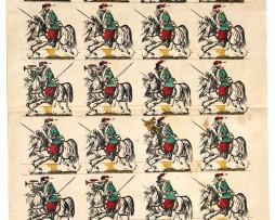 Planche Nouvelle Imagerie Epinal - Olivier Pinot - Armée Russe - Cosaques - N°225