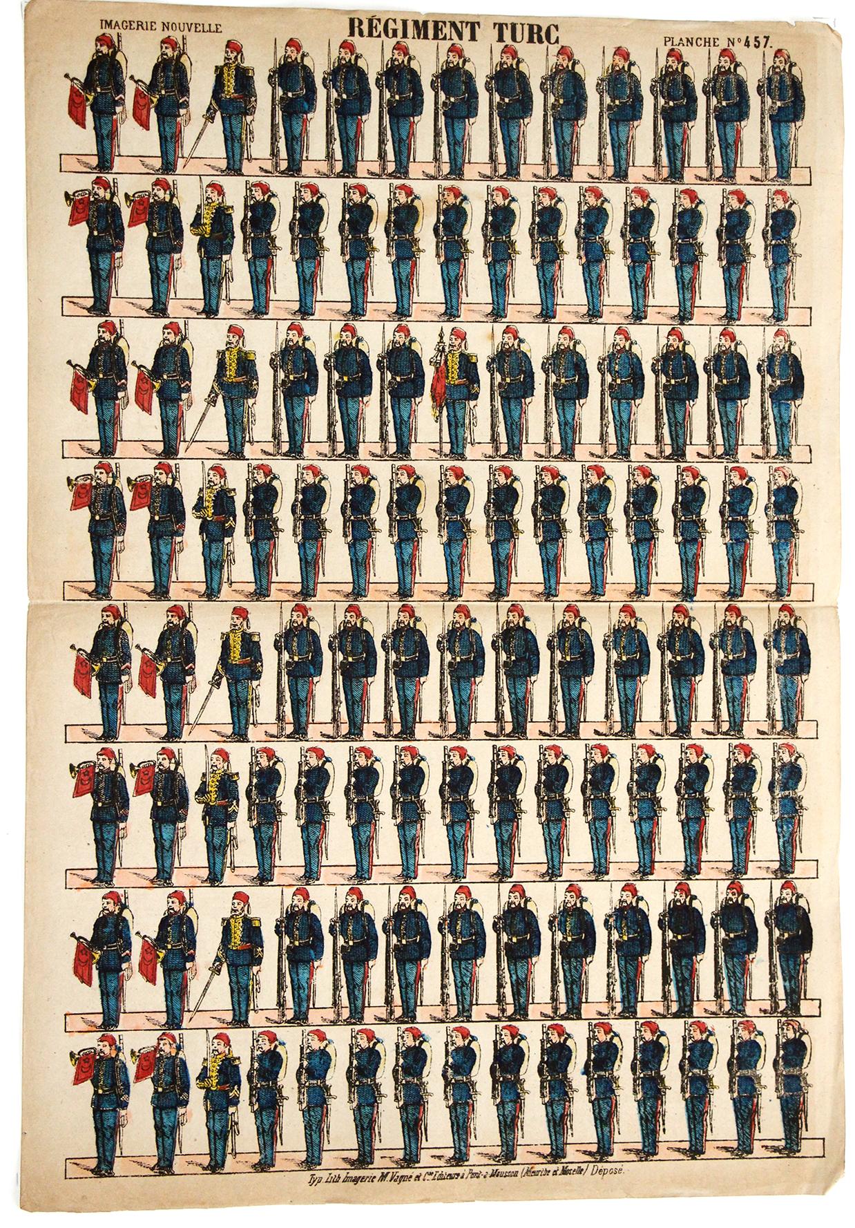 6 Planches Imagerie Epinal - Armée Turque - Divers