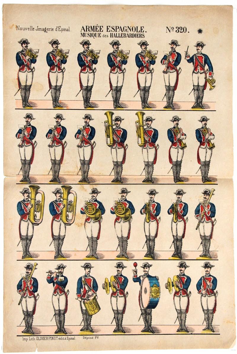 8 Planches Imagerie Epinal - Armée Espagnole - Divers