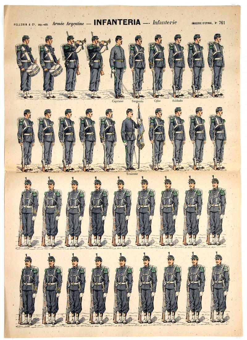 6 Planches Imagerie Epinal - Armée Argentine - Divers