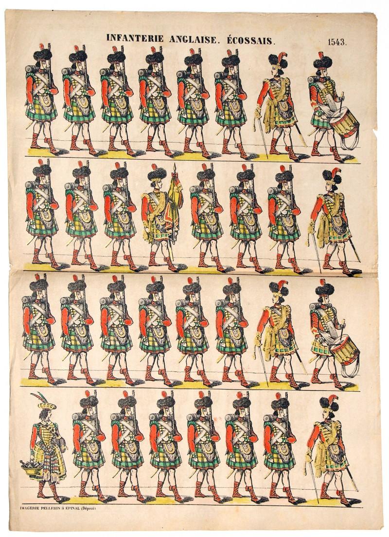 Planche Epinal - Armée Anglaise - Infanterie Ecossaise