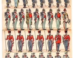 Planche Imagerie Epinal - Pellerin - Armée Russe - Garde Impériale - N°662
