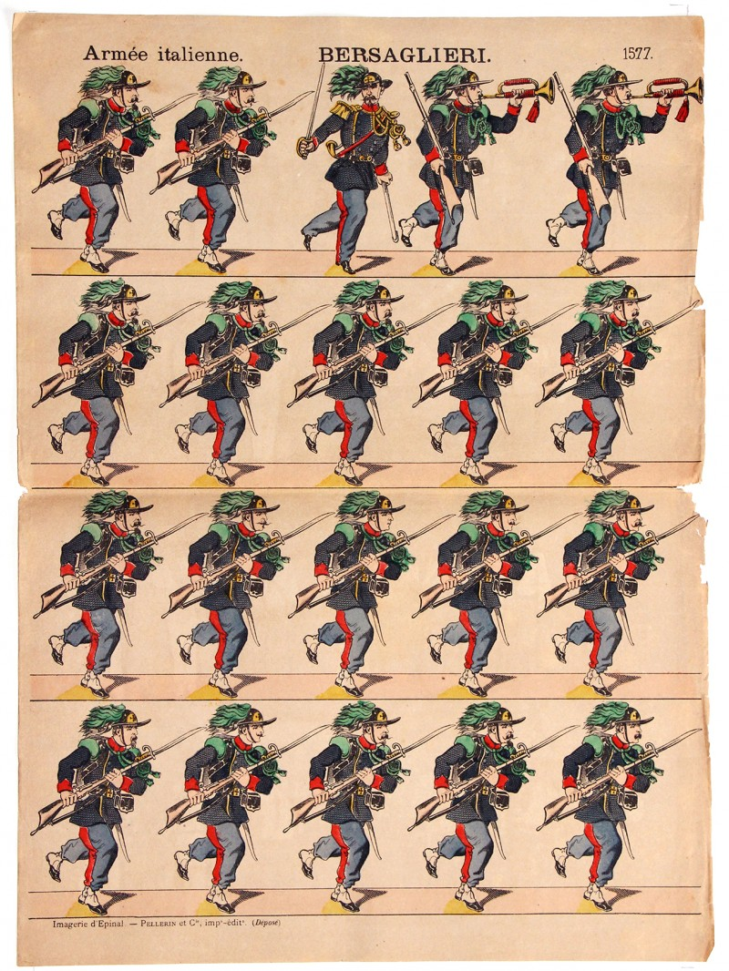 18 Planches Nouvelle Imagerie Epinal - Divers - Armée Italienne