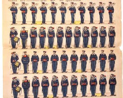Planche Imagerie Epinal - Pellerin - N°1676 - Marine - Armée Française (Copier)