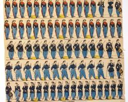 Planche Imagerie Epinal - Pellerin - N°1708 - Marins - Armée Française