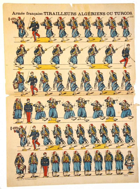 Planche imagerie Epinal - Pellerin Editeur - N°1681 - Turcos - Armée Française