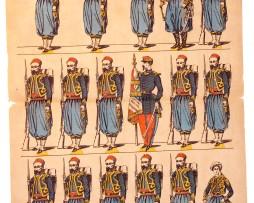 Planche imagerie Epinal - Pellerin Editeur - N°1503 - Turcos - Armée Française