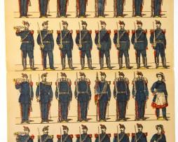 Planche imagerie Metz - Delhalt Editeur - N°581 - Génie - Armée Française