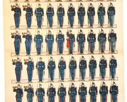 Planche imagerie Nouvelle Epinal- Pellerin Editeur - N°439 - Génie - Armée Française