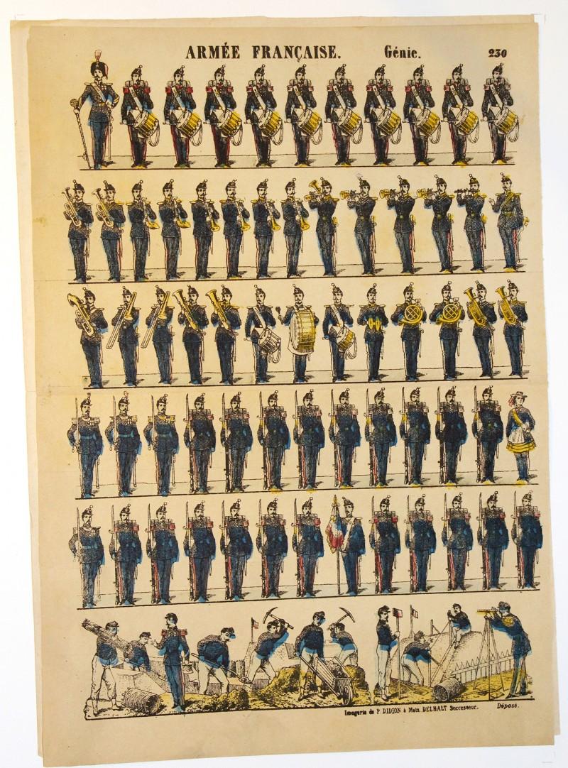 Planche imagerie Metz- Didion Editeur - N°236 - Génie - Armée Française