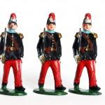 5 Figurines Type Quiralu Infanterie St Cyr - Plastique - Peinture d'origine