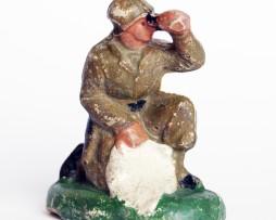 Ancienne Figurine Composite Armée Soldat Platre 1945
