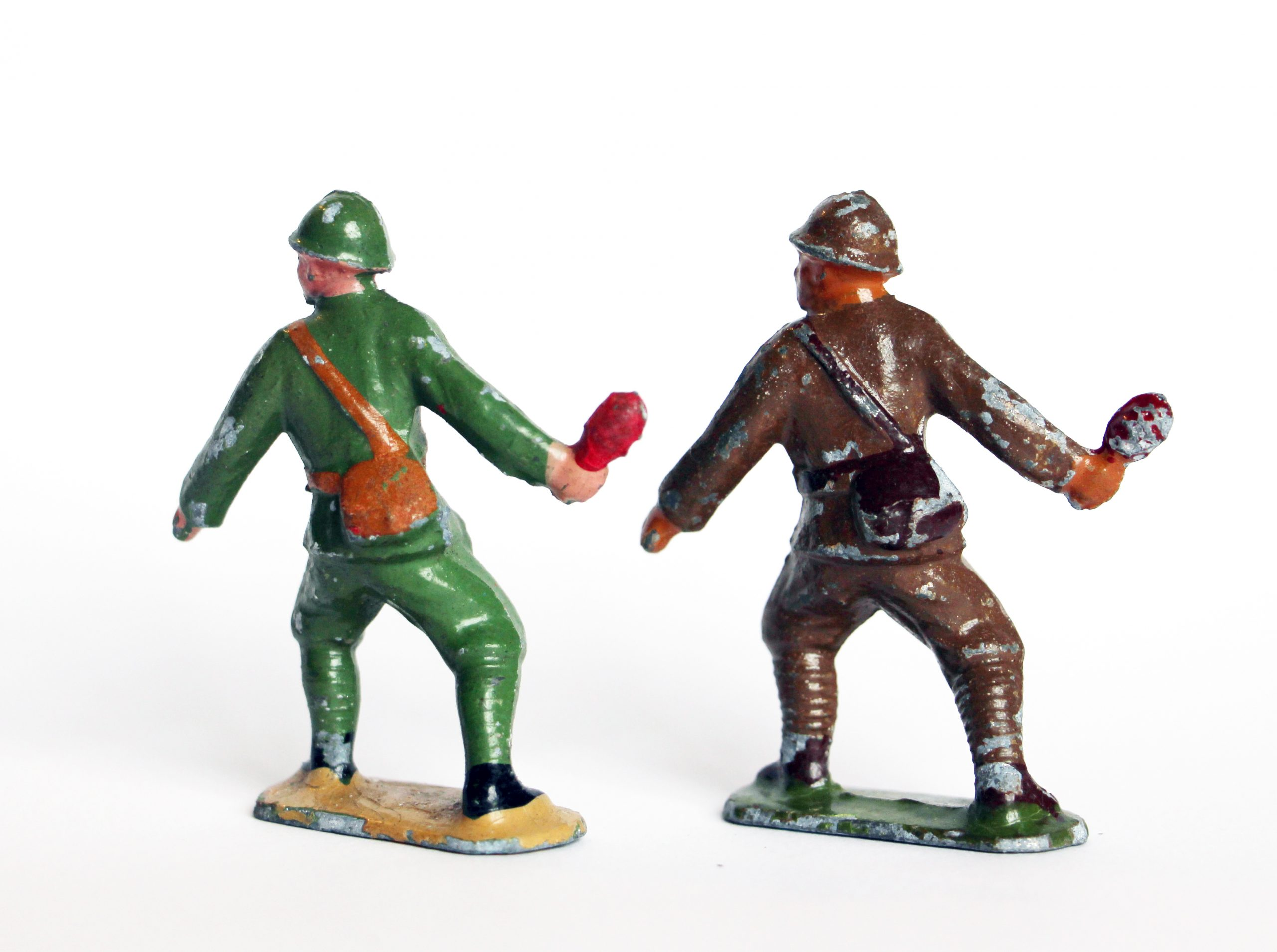 2 Figurines Plomb Creux - Grenadiers - Repeintes