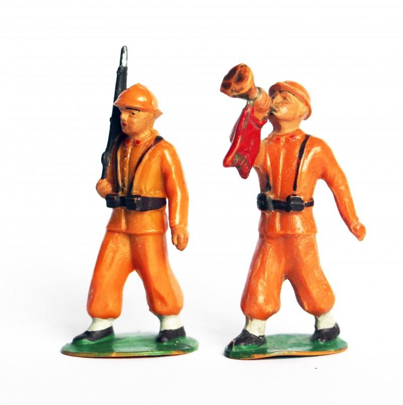 2 Anciennes Figurine Starlux - Infanterie Française 1940 - 1er Génération
