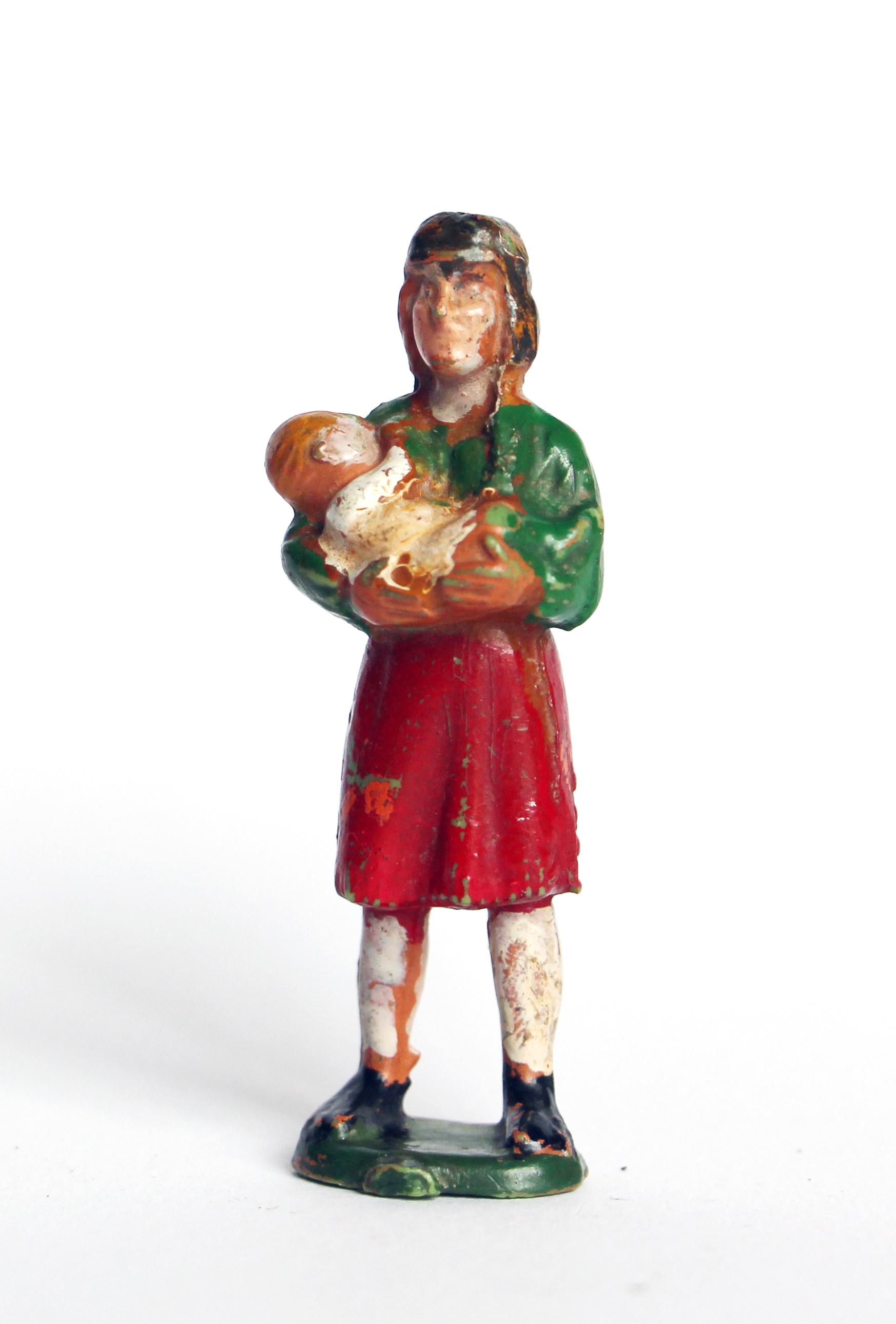 Ancienne Figurine Starlux - Indienne - Apache - Bébé