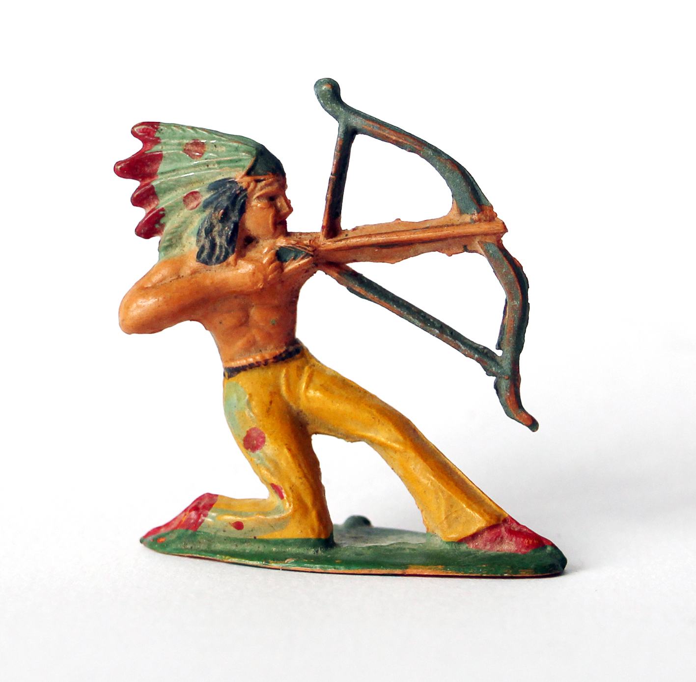 Ancienne Figurine Starlux - Indien Tir a l'arc