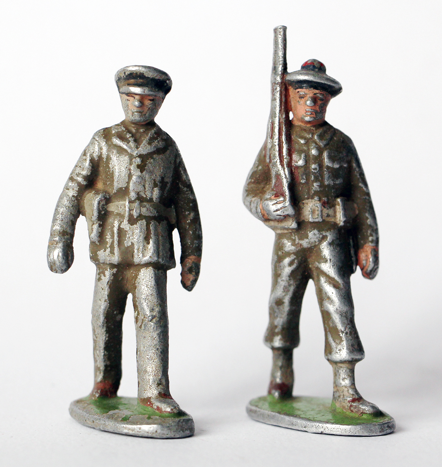2 Figurines Quiralu anciennes Infanterie France 1950