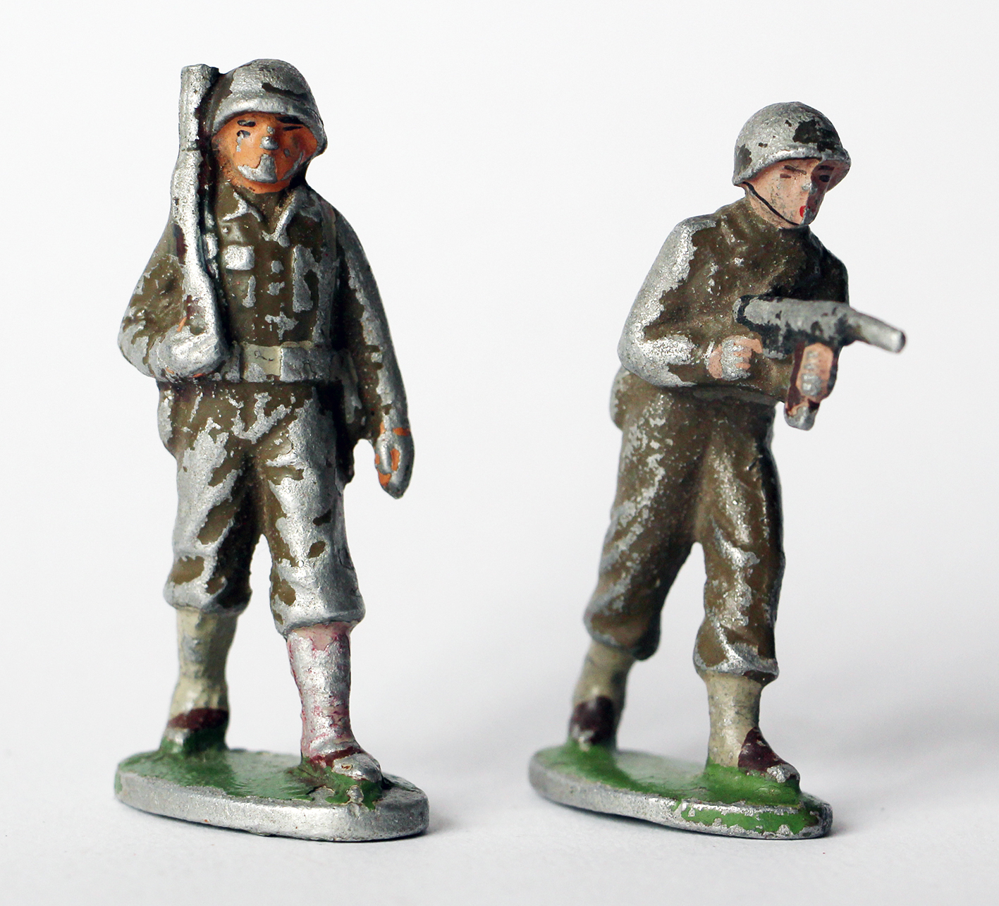 2 Figurines Quiralu ancienne Infanterie France 1950