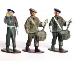 3 Figurines Plastique - Infanterie - Défilé - Musique - France - Chasseur à Pied