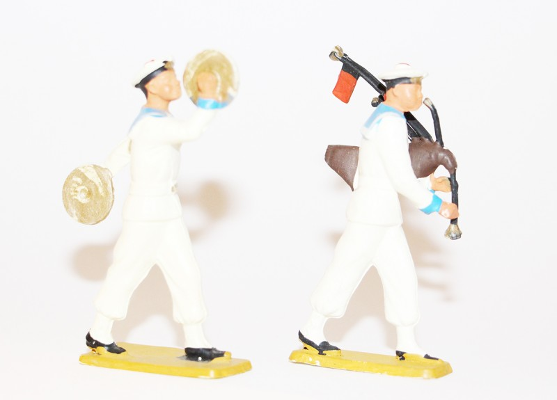 11 Figurines Starlux - Marin - Navire - Bateau - Défilé musique