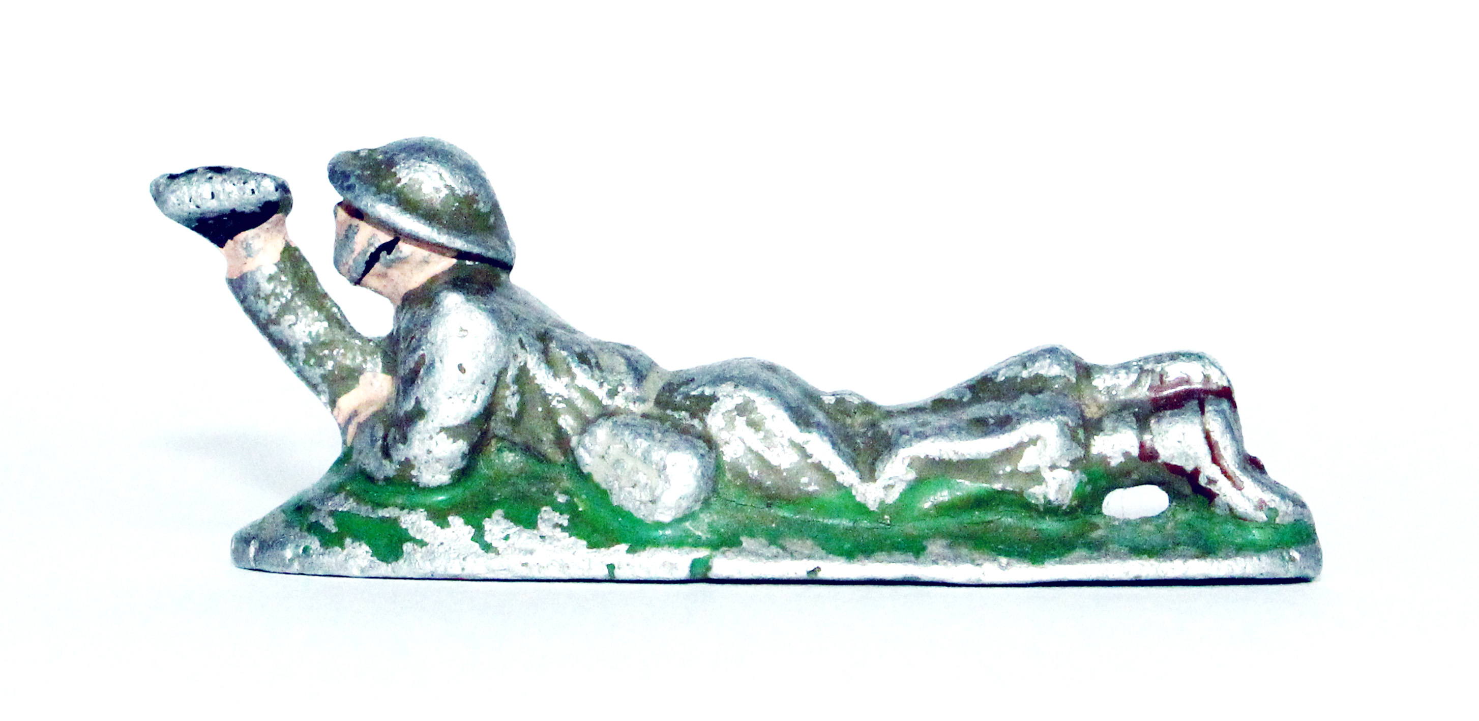 Figurine Quiralu ancienne Infanterie Anglaise 1940 Observateur Couché