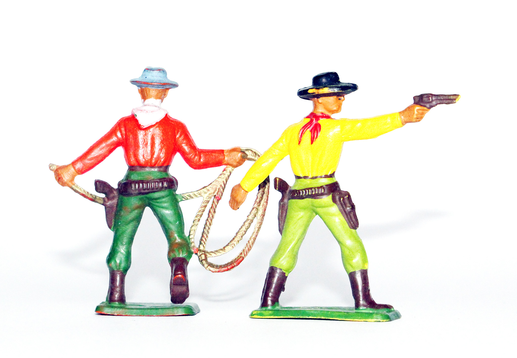 Figurines Ancienne Starlux - Cowboy - Duel - Campement