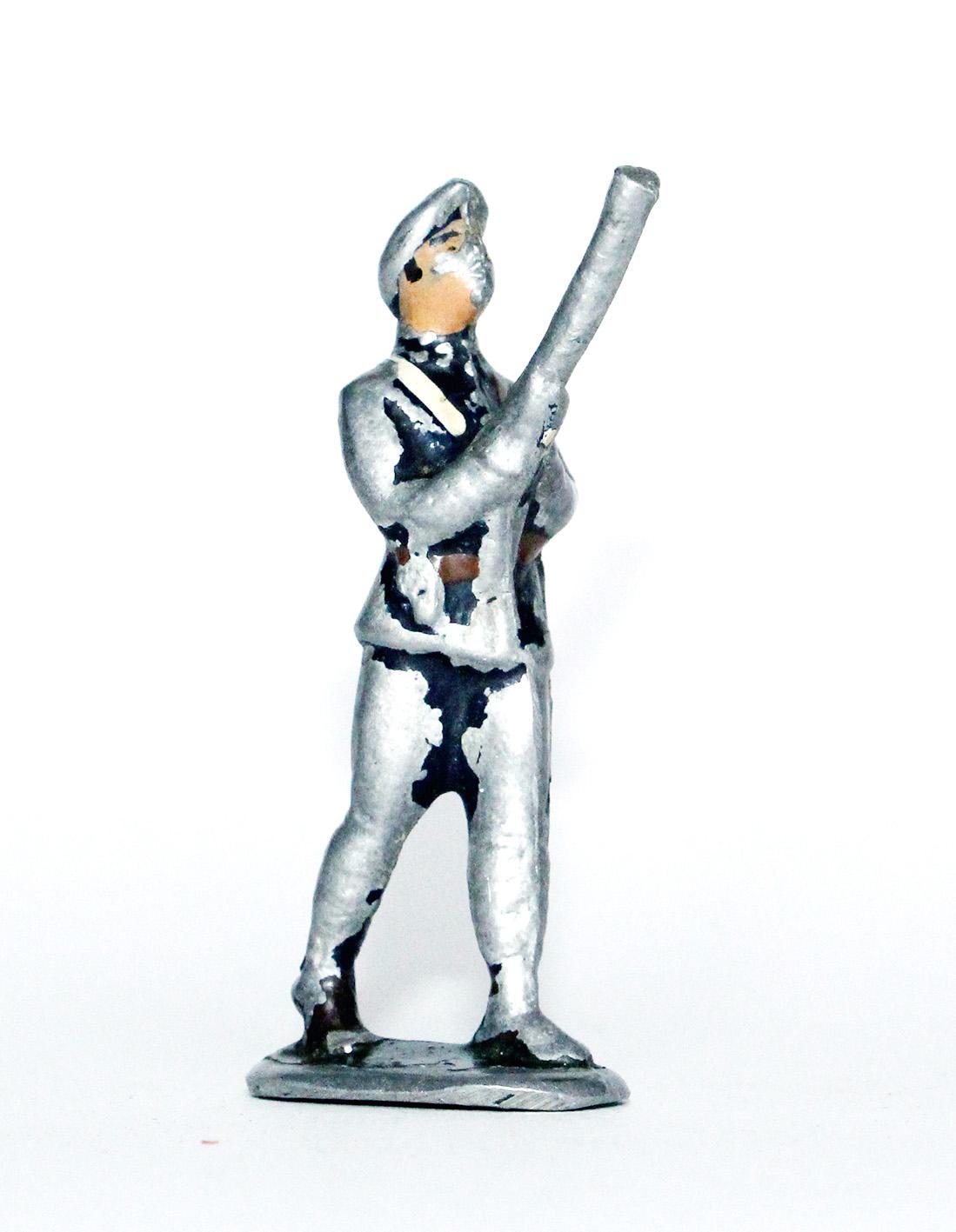 Figurines Aluminium ancienne chasseur à pied / Alpin