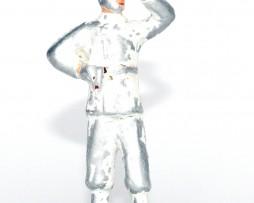 Figurine Aluminium ancienne Marin Tenue Blanche Navire