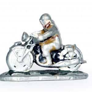 Figurine Quiralu ancienne Moto Armée Estafette