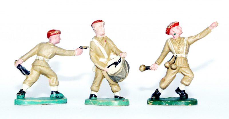 Figurines Ancienne Plastique - Parachutistes - Béret Rouge - Année 50