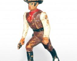 Figurine Ancienne Plastique - Année 50/60 - Cowboy duel - Bras articulé