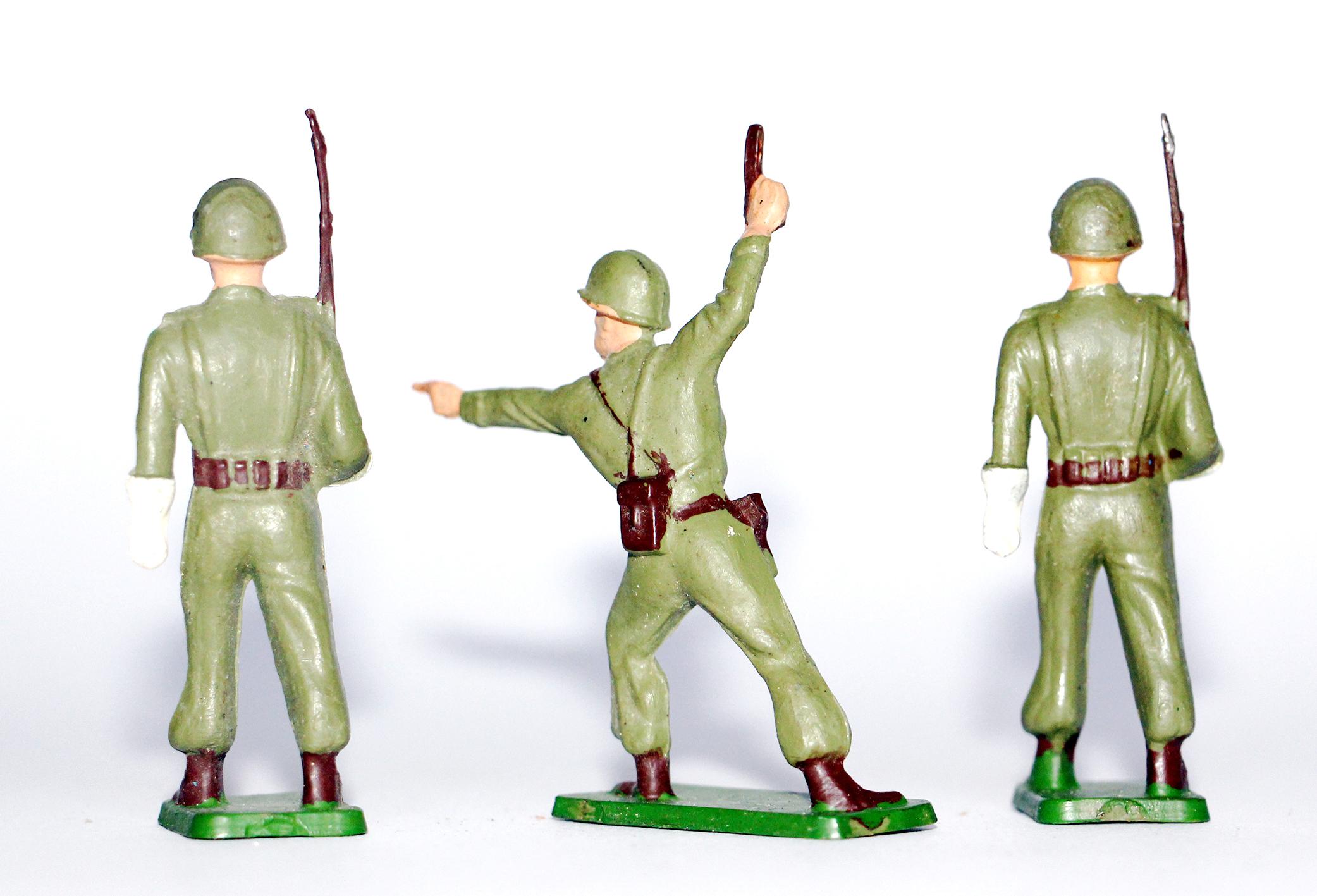3 Figurines Starlux - Infanterie - Défilé - Musique - France