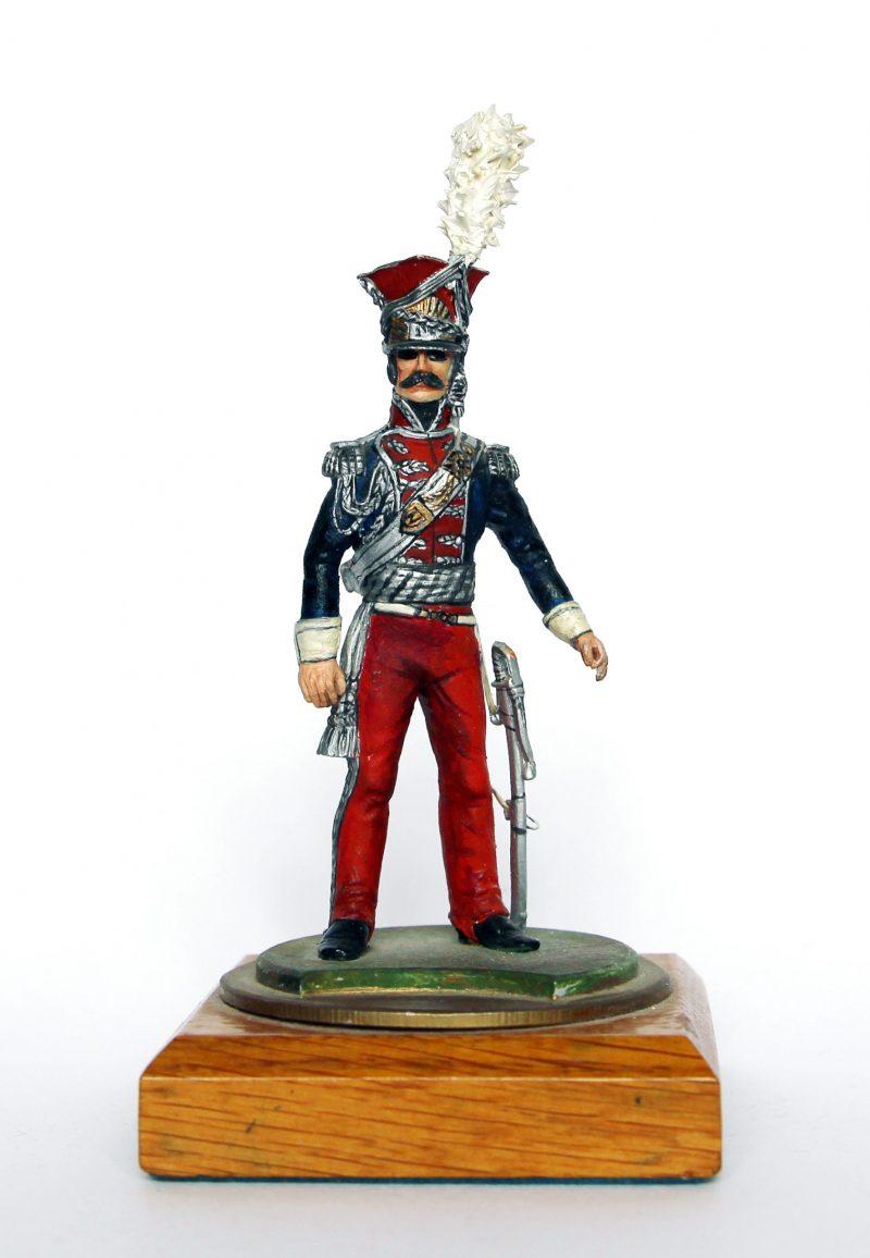 Figurine Series 77 - Peinture collectionneur - Officier du 1er Chevau-légers lanciers de la Garde - Polonais
