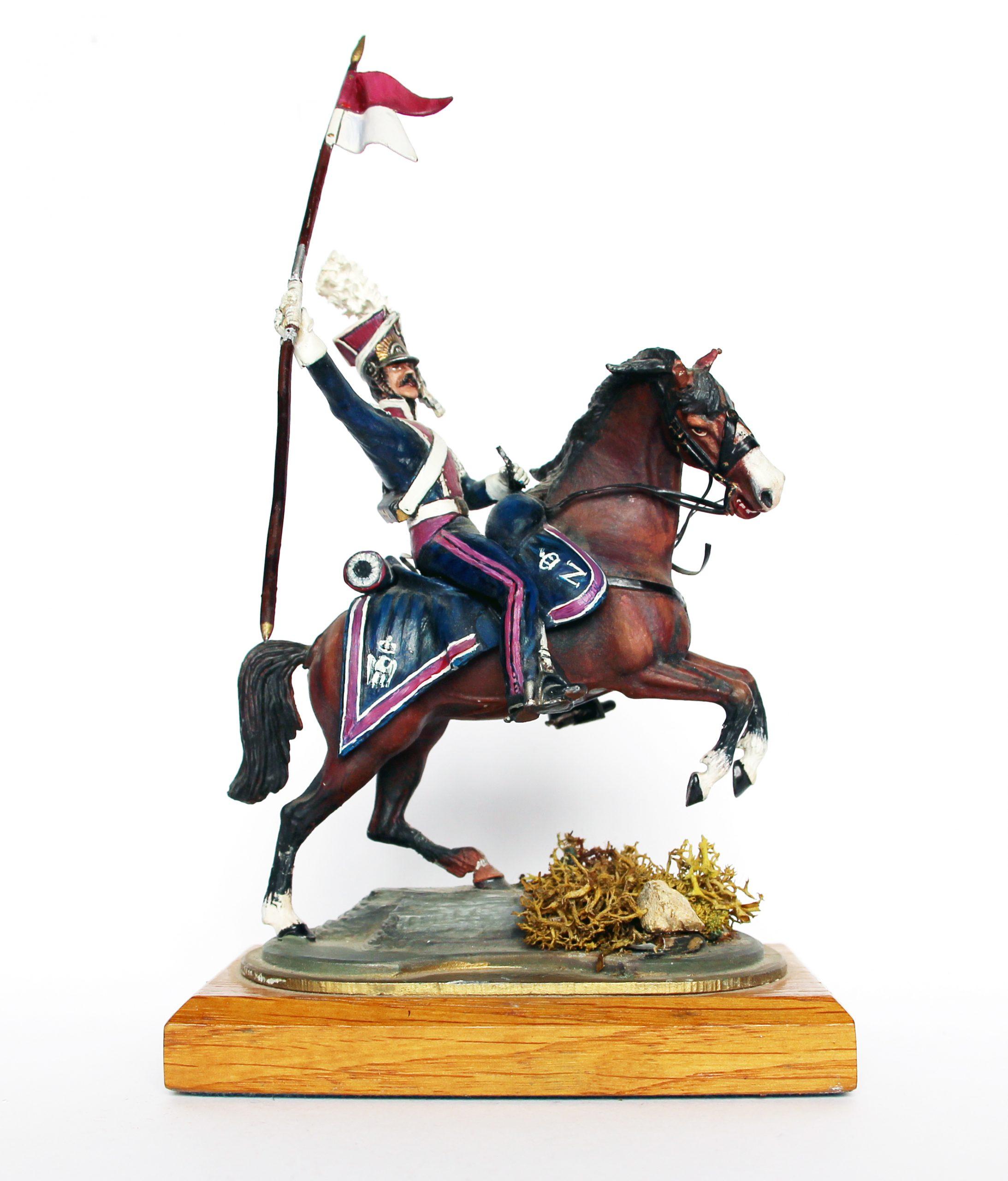 Figurine Series 77 - Peinture collectionneur - Soldat du 1er Chevau-légers lanciers de la Garde - Polonais