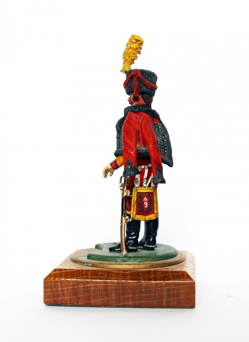 Figurine Series 77 - Peinture collectionneur - Trompette Hussard 9em Régiment - 1er Empire 1810 - Compagnie d'Elite